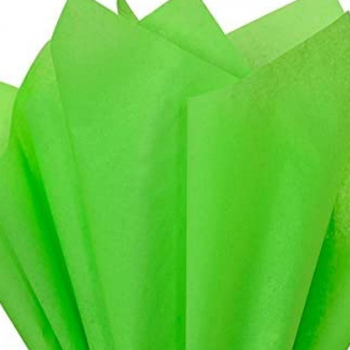 7521 Neon Green 75cmx60cm Tissue Floral Wraps - 100 Sheets