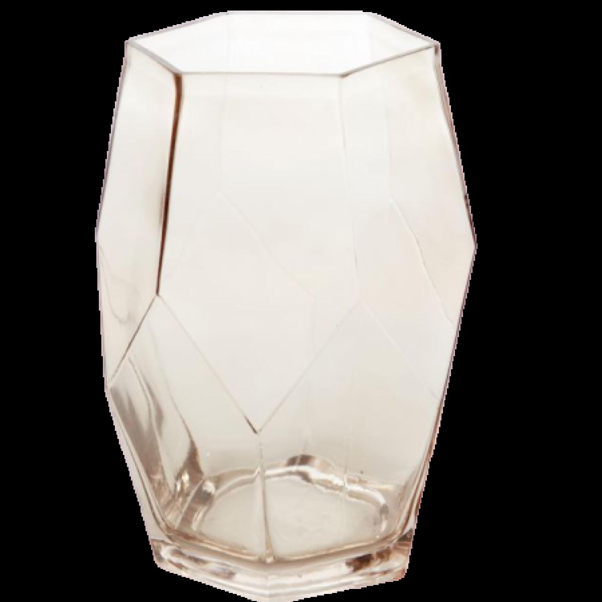 5605 Ruboid Vase Gold Tint 14.5x18x24.5cm 5605 Glass