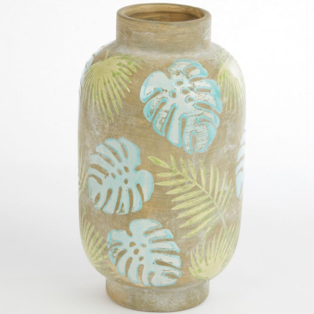 Ceramic Iquitos Vase 16cmX16cmX28cm