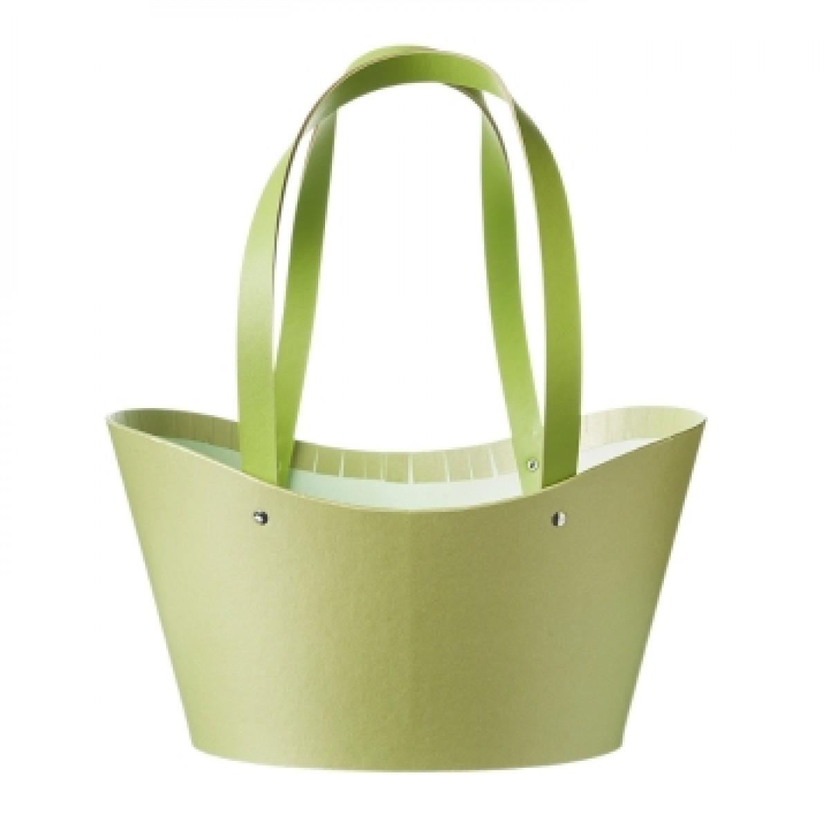 5033 Napier Basket Paper Lined Green (Pack of 3)