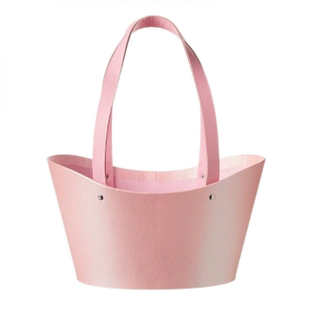 5032 Napier Basket Paper Lined Pink (Pack of 3)