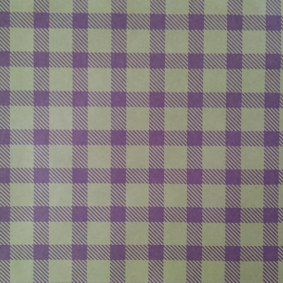 7214 Chex Print Purple 50cmx25m Kraft Paper - 1 Roll