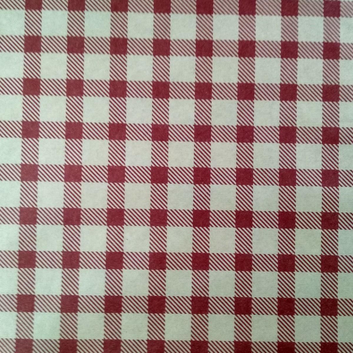 7210 Chex Print Red 50cmx25m Kraft Paper - 1 Roll
