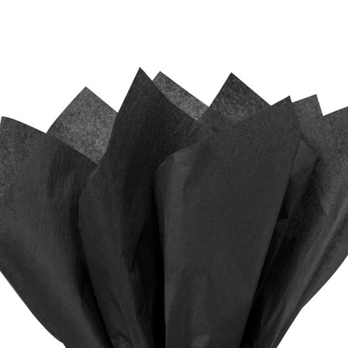 7523 Black 75cmx60cm Tissue Floral Wraps - 100 Sheets
