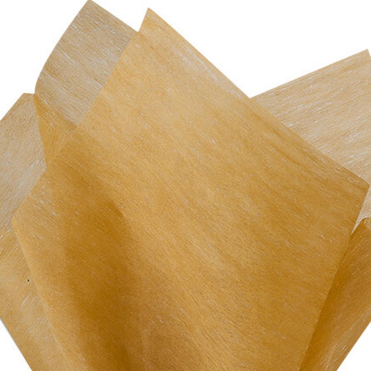 7525 Gold 75cmx60cm Tissue Floral Wraps - 100 Sheets